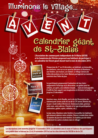 calendrier Avent 2019